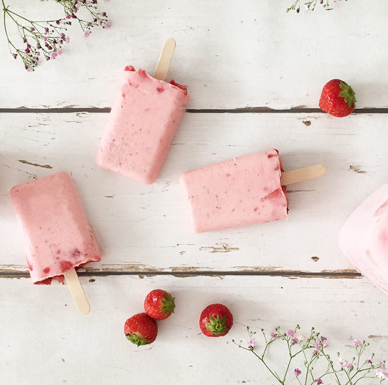 Recipe for strawberry ice cream