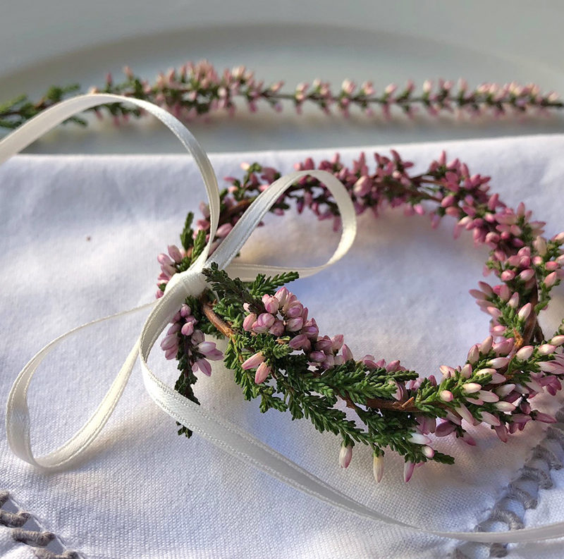 Simple DIY table decoration with winter heath – Simples Do-it-yourself mit Heidekraut/ Erika