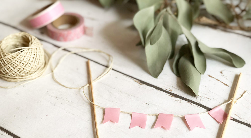Wimpelkette – DIY Cake Topper – pennant chain