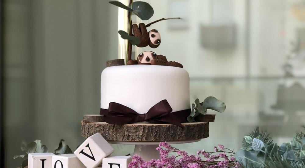 Faultier Kuchen – Sloth Fondant Cake