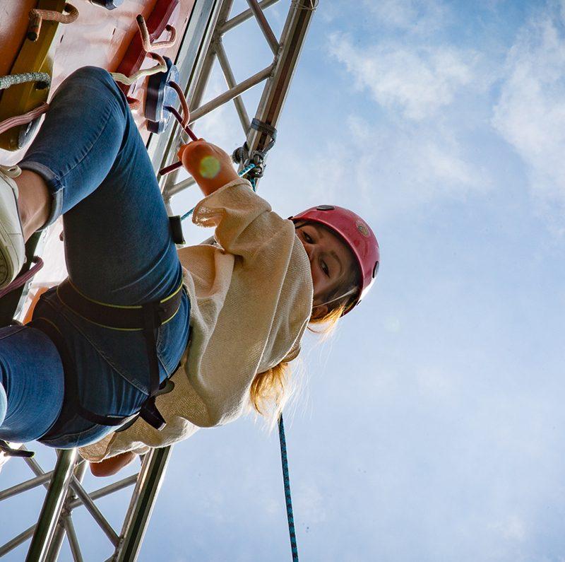 Hoch Hinaus für mich – der mobile Klettergarten in den Pasing Arcaden