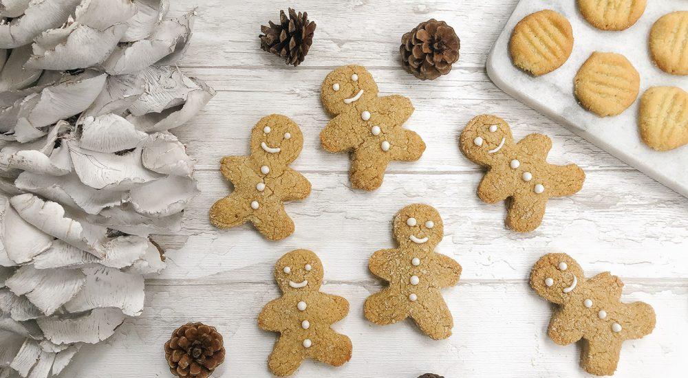 Low Carb Weihnachtsplätzchen – Lebkuchenmänner und Schneeflocken