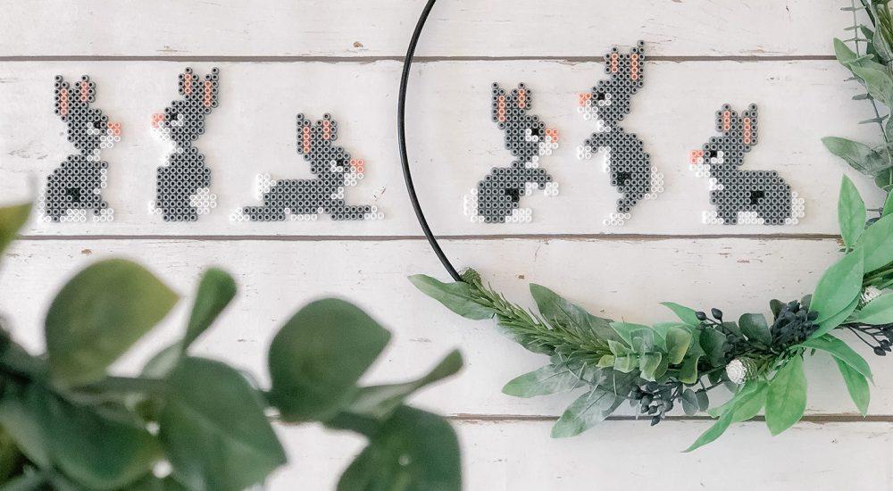 DIY Bügelperlen Hasen selber machen – die perfekte Deko zu Ostern