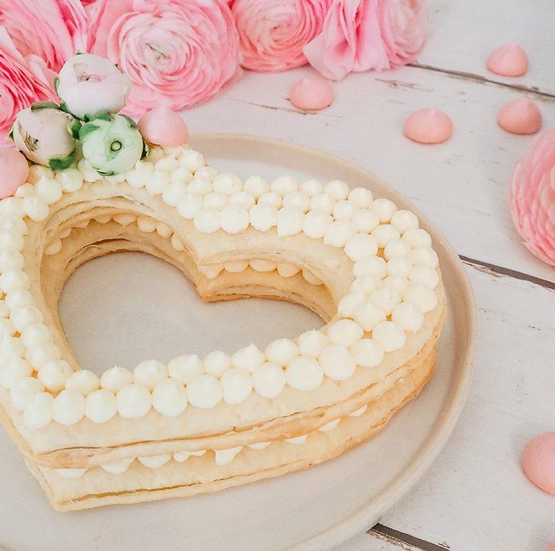 Herzkuchen für Muttertag aus Blätterteig