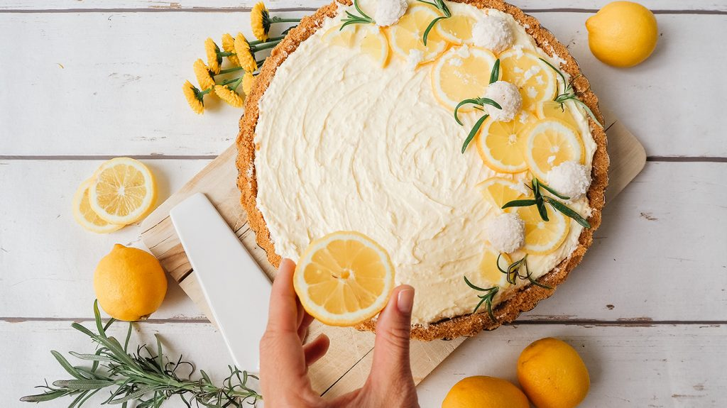 CF CosyFoxes Zitronen Kokos Torte No Bake Cake 0
