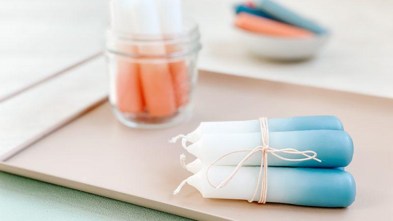 CF CosyFoxes Ombré Kerzen färben Dip-Dye DIY