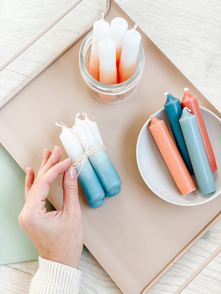 CF CosyFoxes Ombré Kerzen färben Dip-Dye DIY 0