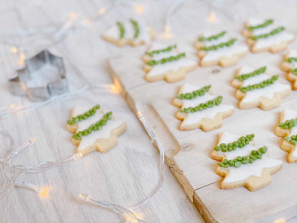 CF CosyFoxes Tannenbaum Kekse Royal Icing Weihnachten Plätzchen