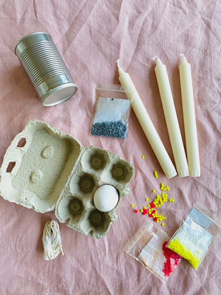 CF CosyFoxes Ostereier Kerzen selber machen Dip Dye