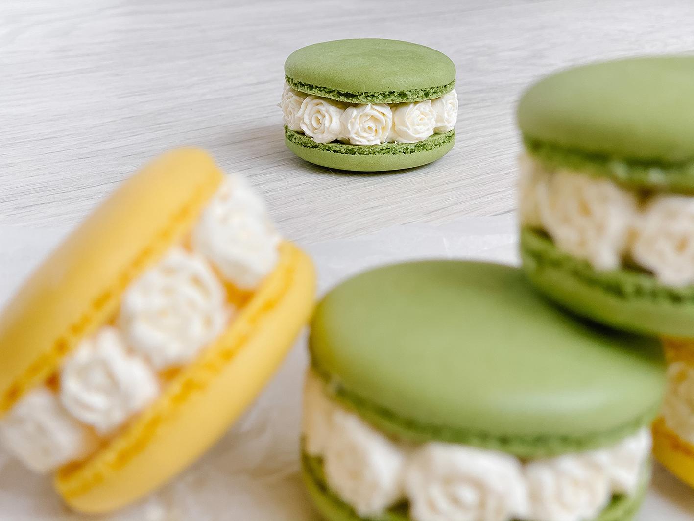 CF CosyFoxes French Macarons Buttercreme Rosen Rezept Anleitung