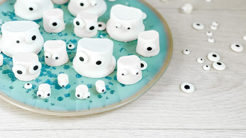 CF CosyFoxes Marshmallow Geister Ghost Zuckeraugen Halloween